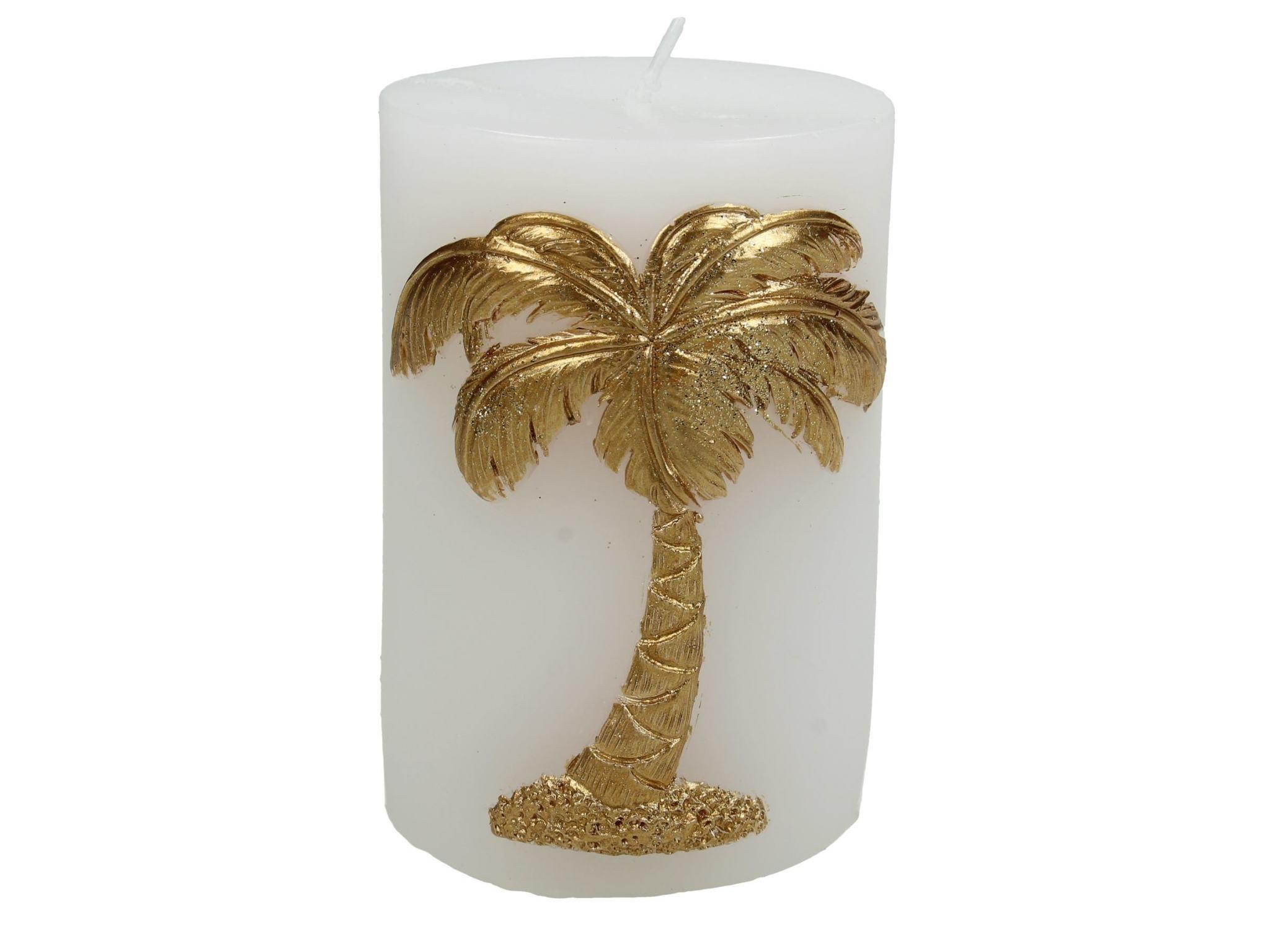Sierkaars met Gouden Palmboom opdruk 7.3x7x10cm