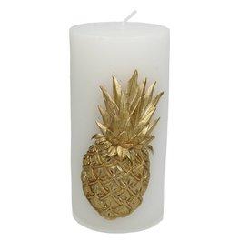 Sierkaars met Gouden Ananas opdruk   8x7x15cm