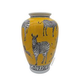 Loco Lama Loco Lama Gele vaas met Zebras