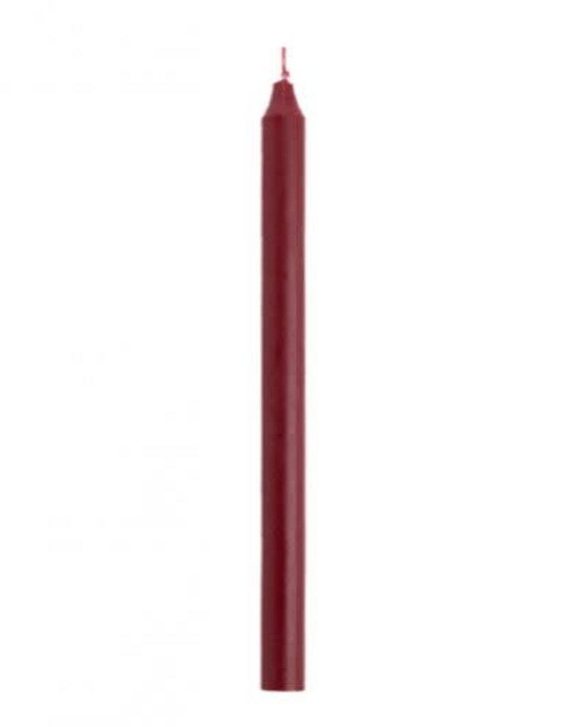 Rustik Lys Dinerkaarsen Antiek Rood 2.1x30cm