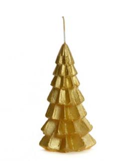 Rustik Lys Dinerkaarsen Rustik Lys Kerstboom Kaars Goud 6.3x12cm