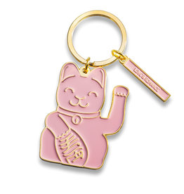Donkey Lucky Cat Keyring Pink