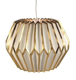 Meander Papieren Lamp Wit/Goud
