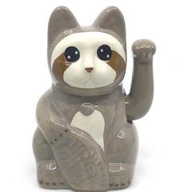 Doiy Lucky Cat Keramiek Sloth Cat Grijs