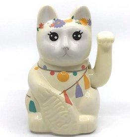 Doiy Lucky Cat Keramiek Liama Cat wit
