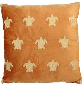 Fluwelen kussen Schildpad Terra  Incl.binnenkussen  60x60 cm