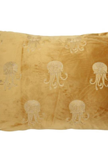 Fluwelen kussen Jellyfish Yellow/Gold Incl.binnenkussen  40x60 cm