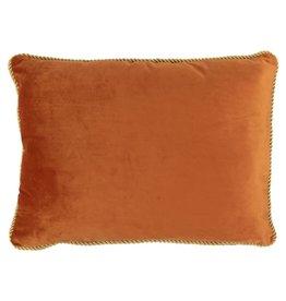 Mars & More  Fluwelen kussen Oranje Goud 35x45cm
