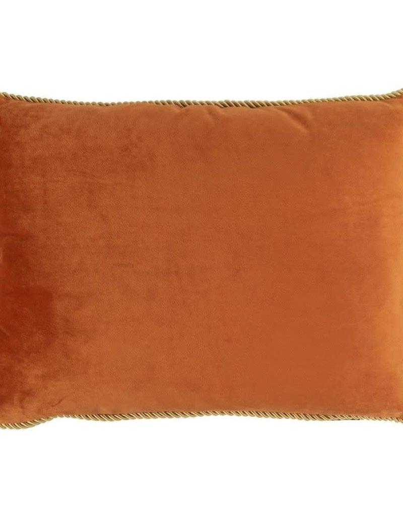 Mars & More  Fluwelen kussen Oranje Goud 35x45cm incl.binnenkussen