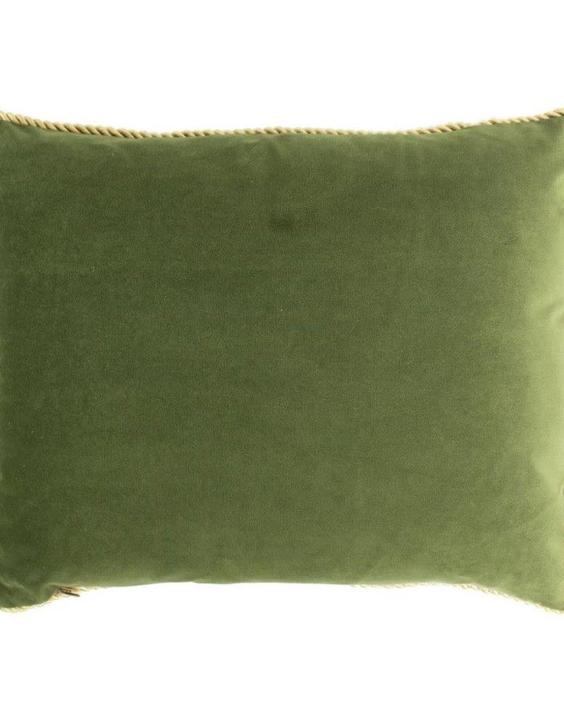 Mars & M  Fluwelen kussen Appel Groen 35x45cm incl.binnenkussen