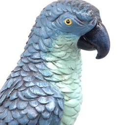 Papegaai op statief Turquoise 17 x 42 cm (bxh)