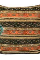Boho Esperanza Kussens Boho Kussen Mediterraan Groen Oranje Oker 45x45cm Incl.binnenkussen