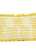 Imbarro Kussen Wit met Oker 30x50cm Incl.Binnenkussen