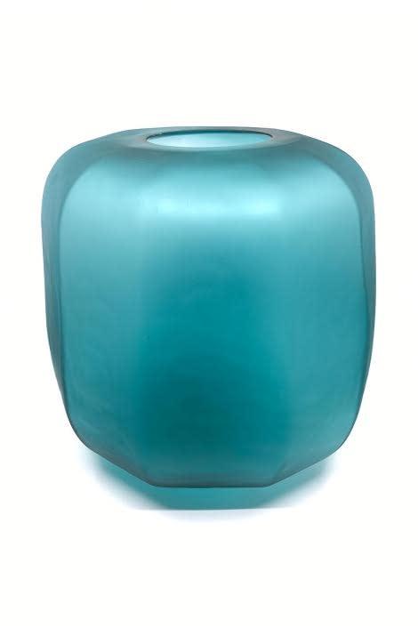 Diga C Vase Handmade Mouthblown Green 31x31x31cm
