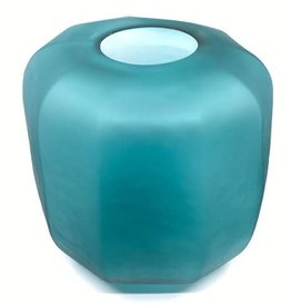 Diga C Vase Handmade Mouthblown Green