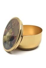 Goudkleurig Metalen Opbergdoosje met een deksel