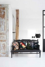 GoRound Fluwelen Kussen Parrot Joyful 45x45cm incl.Binnenkussen