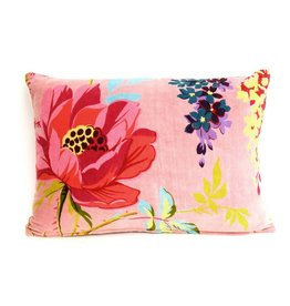 Imbarro Home & Fashion Imbarro Fluwelen kussen Paradise Blow Coral 35x50cm