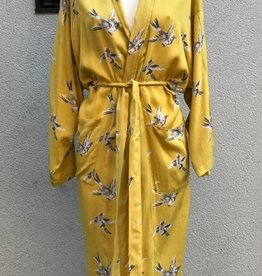 Imbarro Kimono Swinging Bird Yellow One size