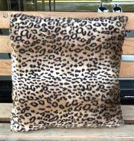 GoRound Kussen Leopard Fake Fur 45x45cm