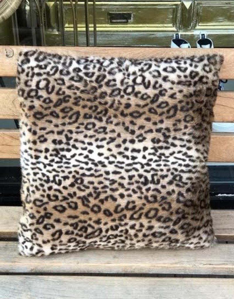 GoRound Kussen Leopard Fake Fur 45x45cm  incl.binnenkussen