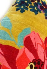 Imbarro Fluwelen kussen Paradise Blow Ocre 35x50cm incl.Binnenkussen