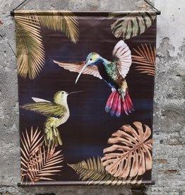 Poster Muse Vogeldoek Kolibrie 94x116cm