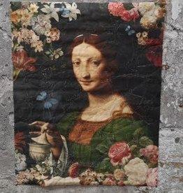 Poster Muse Dame op Perkament 80x100cm