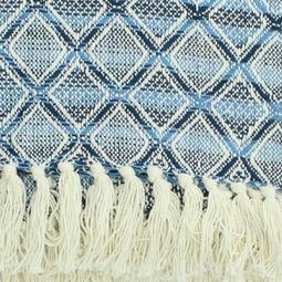 Katoenen Plaid Blauw 170x130cm