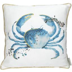 Kussen met Crab Polyester 45x45cm incl.Binnenkussen