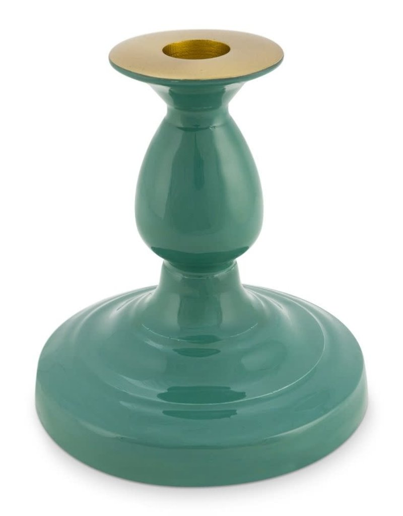 Pip Studio Candle Holder Metal Green 14cm