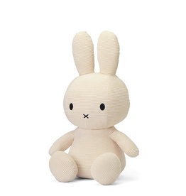 Nijntje/Miffy Miffy Sitting Corduroy Off White- 70 cm