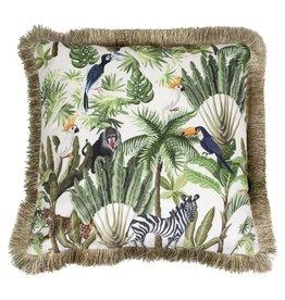 Kussen Fluweel Jungle Toekan Wit Inc binnenkussen