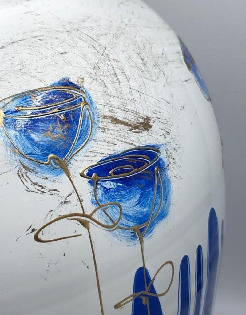 Gilazi Buikvaas Blue Glasses on Strings H48cm