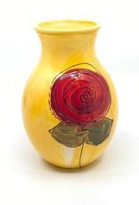 Gilazi mini Vaasje Yellow Red Flower H19.5cm