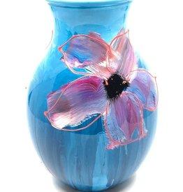 Gilazi mini Vaasje Blue Purple Flower H19.5cm