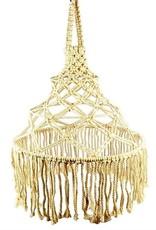 Macrame Hanglamp Beige Wit