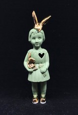 Lammers&Lammers Lammers&Lammers Bunny Groen met Gouden Konijnenoortjes 14cm