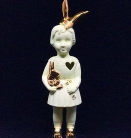 lammers&lammers Lammers&Lammers Bunny Wit met Gouden Konijnen Oortjes