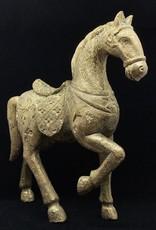 Victorian Horse Goud Polyresin 45x13x39cm