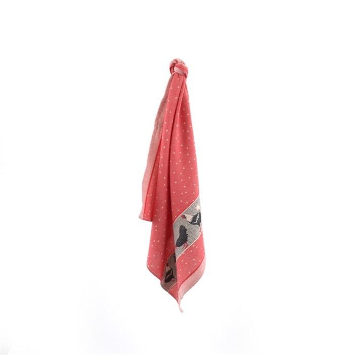 Bunzlau Castle Bunzlau Castle Tea Towel Chickens Red