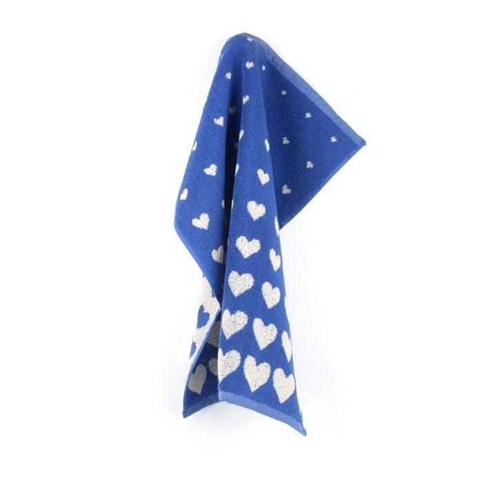 Bunzlau Castle Bunzlau Castle Kitchen Towel Hearts Royal Blue
