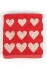Bunzlau Castle Kitchen Towel Hearts Red