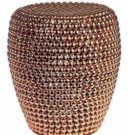 Pols Potten Pols Potten Dot stool Copper Ø40 x H46 cm