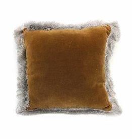 Imbarro Home & Fashion Cushion Silvercloud Brown 45x45cm incl.Binnenkussen