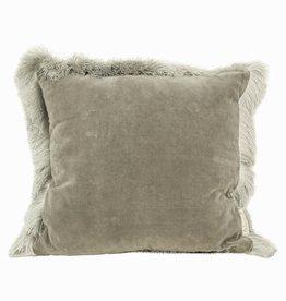 Imbarro Home & Fashion Imbarro Cushion Silvercloud Grey 45x45cm Incl.Binnenkussen