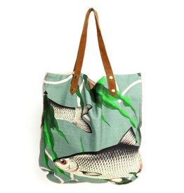 Imbarro Home & Fashion Imbarro Shopper Fishes together Green 47x52cm