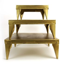 Imbarro Home & Fashion Imbarro Table Rosie Gold, set of 3 20,30 en 40cm