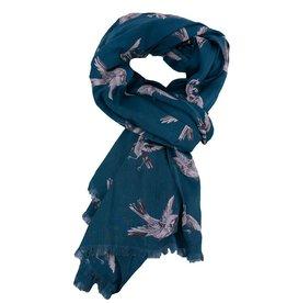 Imbarro Home & Fashion Imbarro Shawl Swinging bird viscose N.Blue 100x200cm