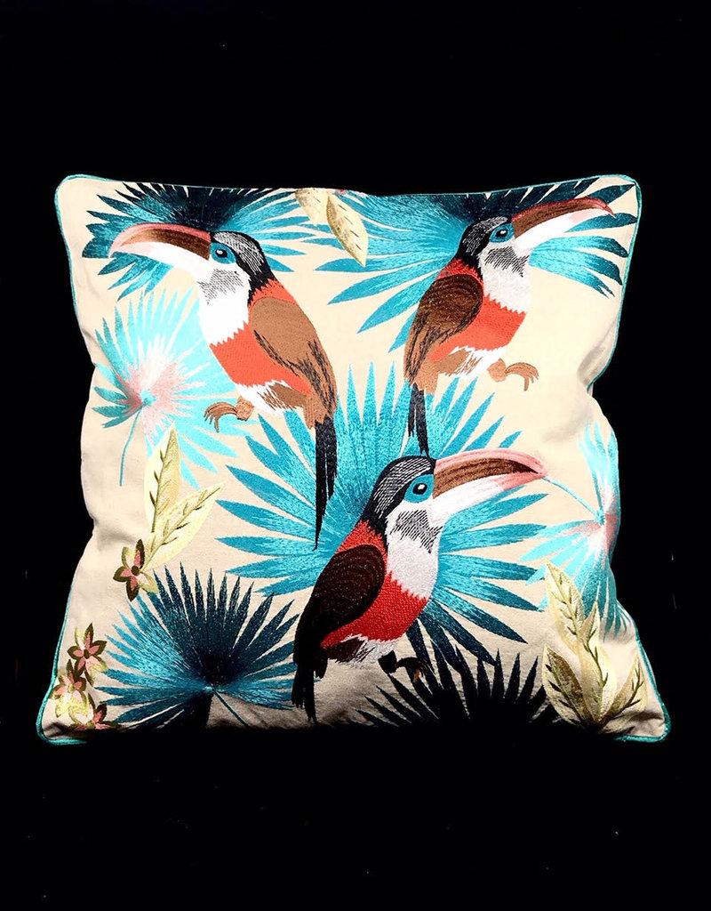 DigaC. Kussen Planten/Vogels Multicolor Cotton